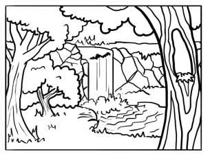 305x227 Forest Background Coloring Pages