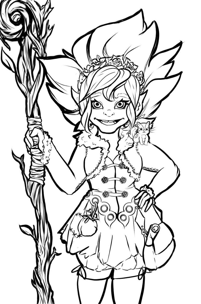 844x1280 Forest Gnome Drawing