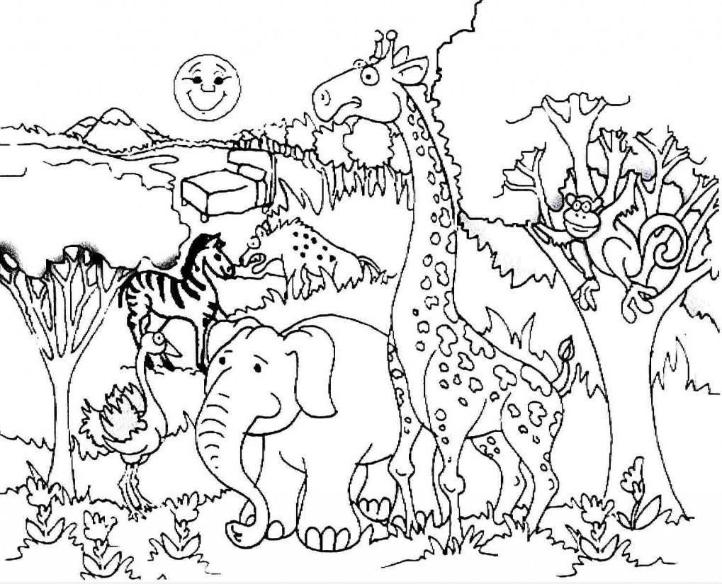 1019x825 Printable Coloring Pages Animals Animal Tryonshorts For Kids