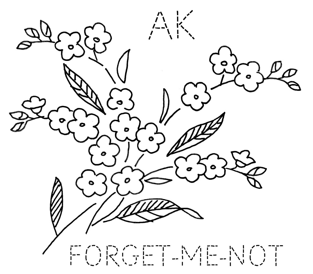 1024x896 Alaska Forget Me Not To Download The 6 Inch Block Size,