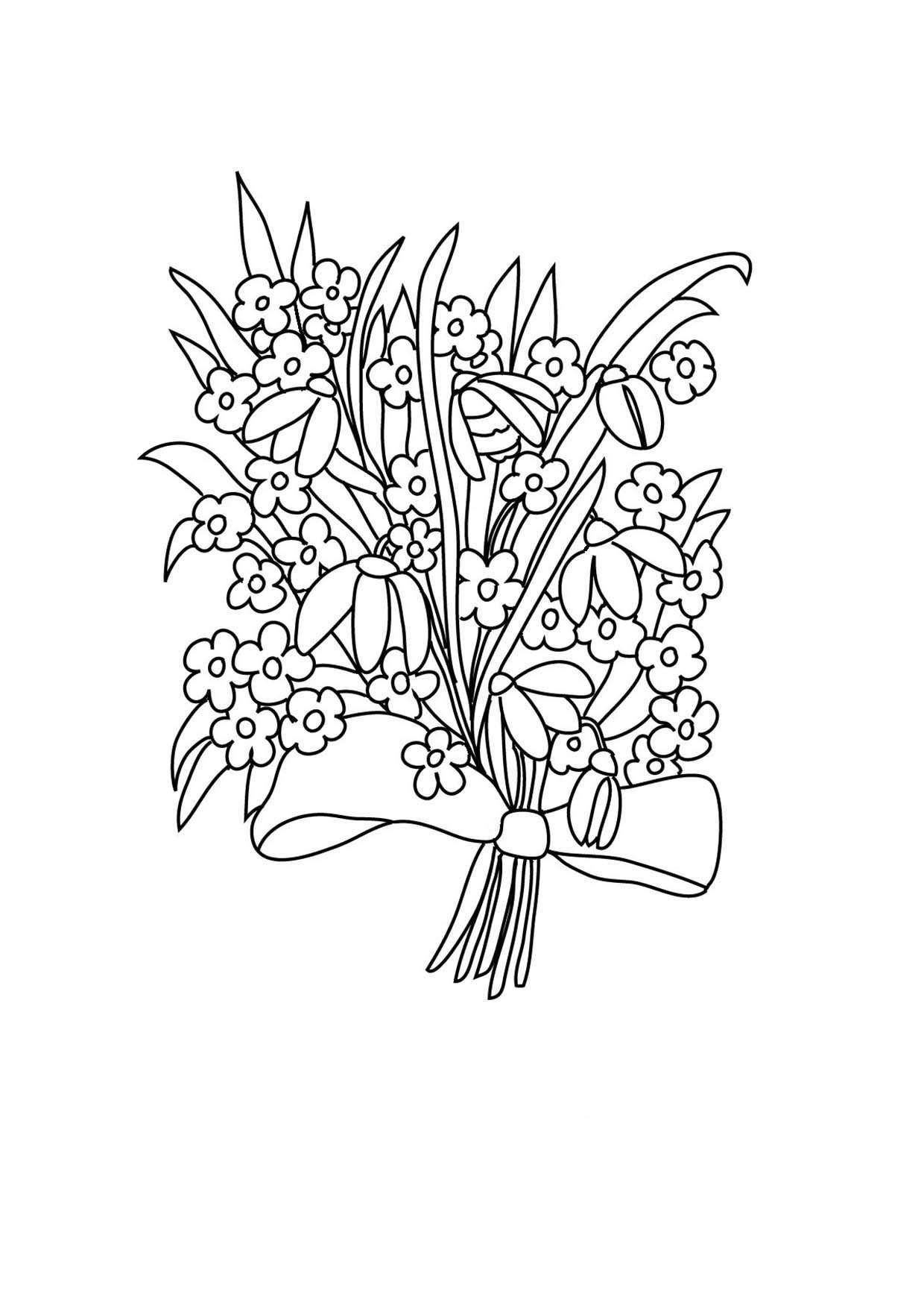 1240x1754 Flower Coloring Pages