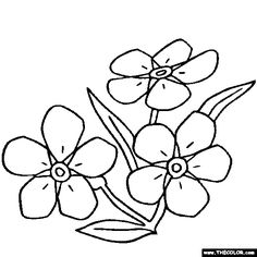 236x236 Forget Me Not Flowers Drawings Spring Flower Material Of Tattoo