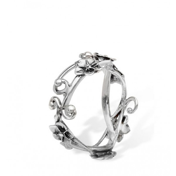 600x600 Silver Forget Me Not Ring Equinox Silver Charms