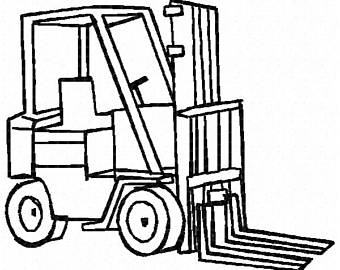 Fork lift drawing at getdrawings free for personal use fork 340x270 fork truck etsy publicscrutiny Images