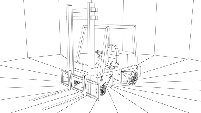 Forklift Drawing At Getdrawings Com