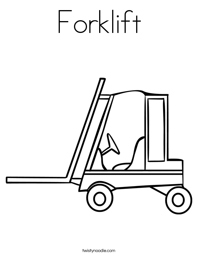 685x886 Forklift Coloring Page