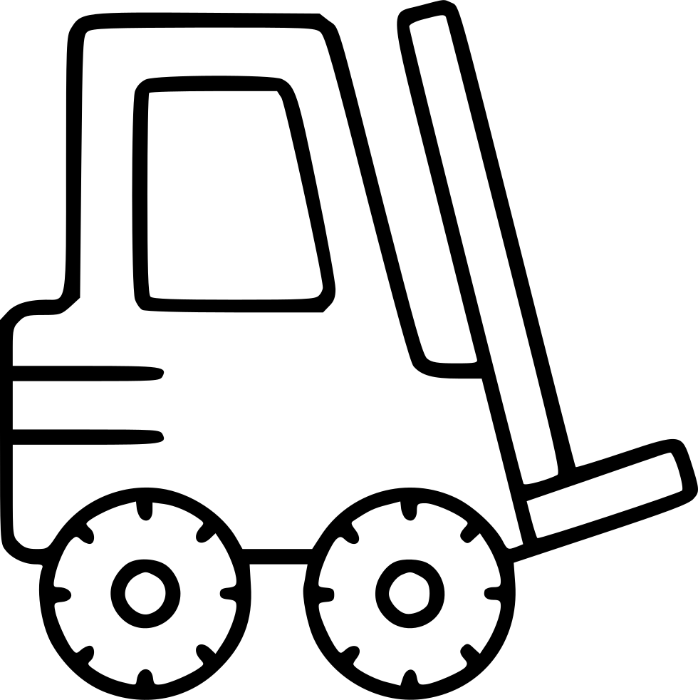 980x982 Forklift Industrial Equipment Moving Loader Warehouse Svg Png Icon