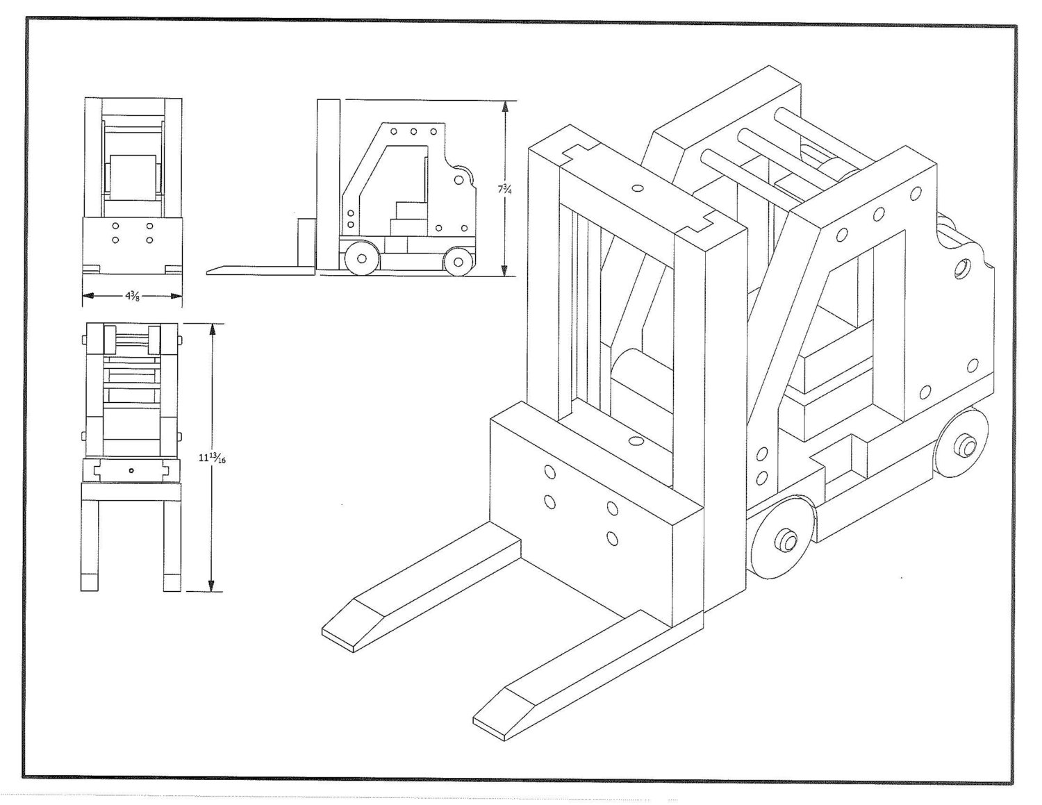 Forklift Drawing At Free For Personal Use Hyster Wiring Diagram E60 1500x1159 Toy Plan From Allnaturaltoyplans On Etsy Studio
