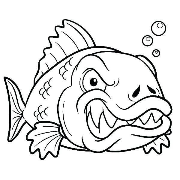 600x600 Fossil Coloring Pages As Fossil Coloring Pages Angry Monster Fish