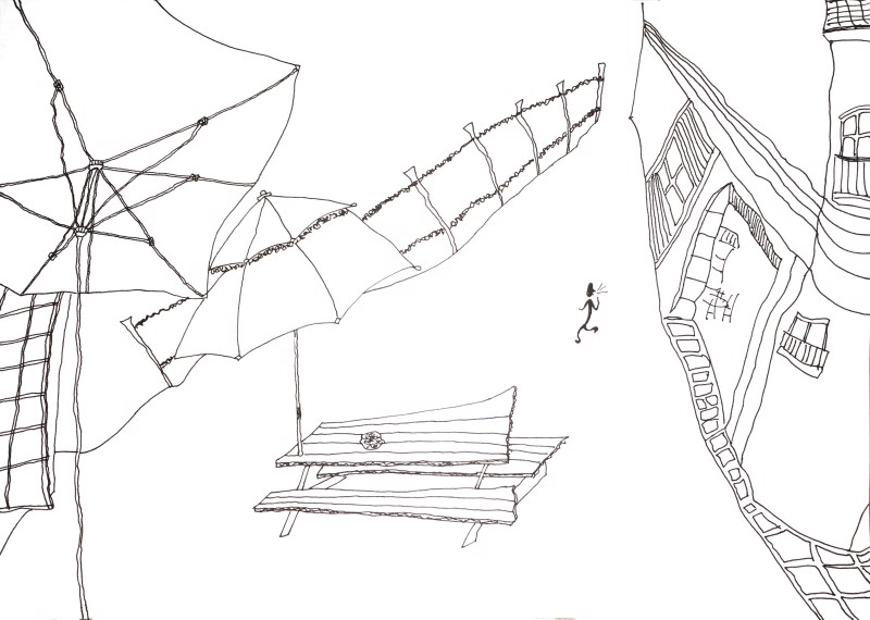 800x570 Fountain Pen Drawing Art Cheonan, Haein Caterpillar Drawing