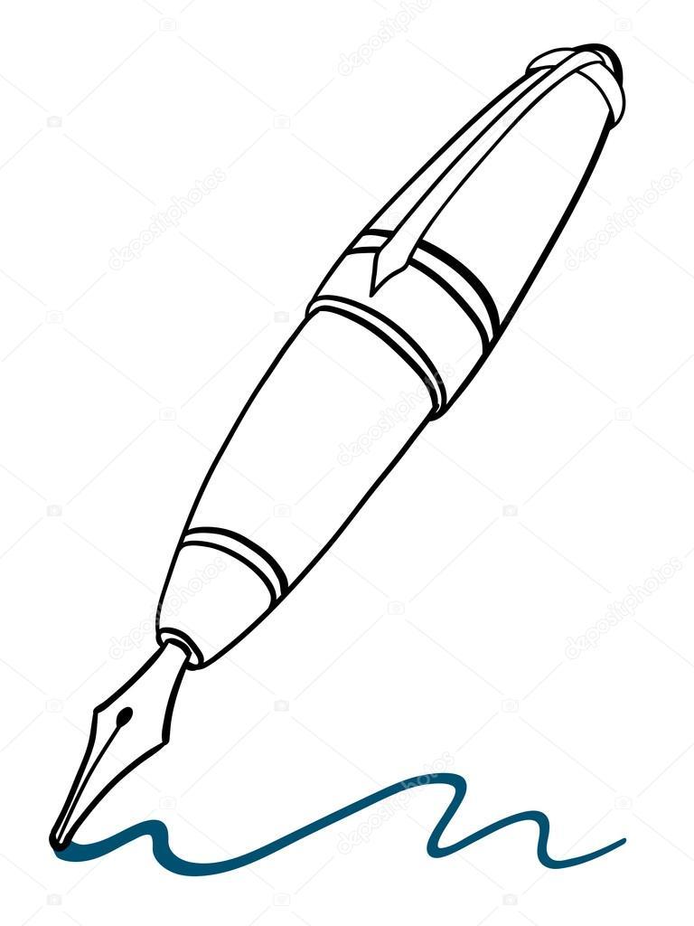 768x1024 Fountain Pen Stock Vector A N