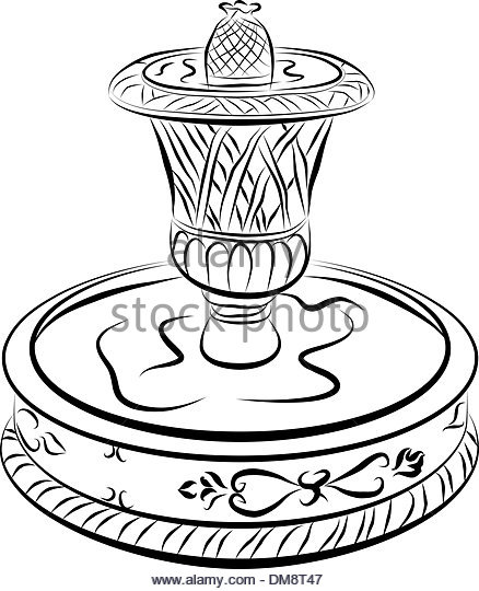 438x540 Victorian Water Fountain Line Drawing Stock Photos Amp Victorian