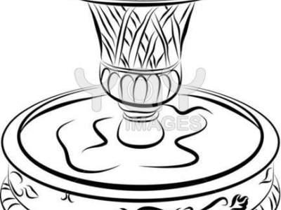 400x300 Water Fountain Sketch Fountain Idol Concept, Water Fountain