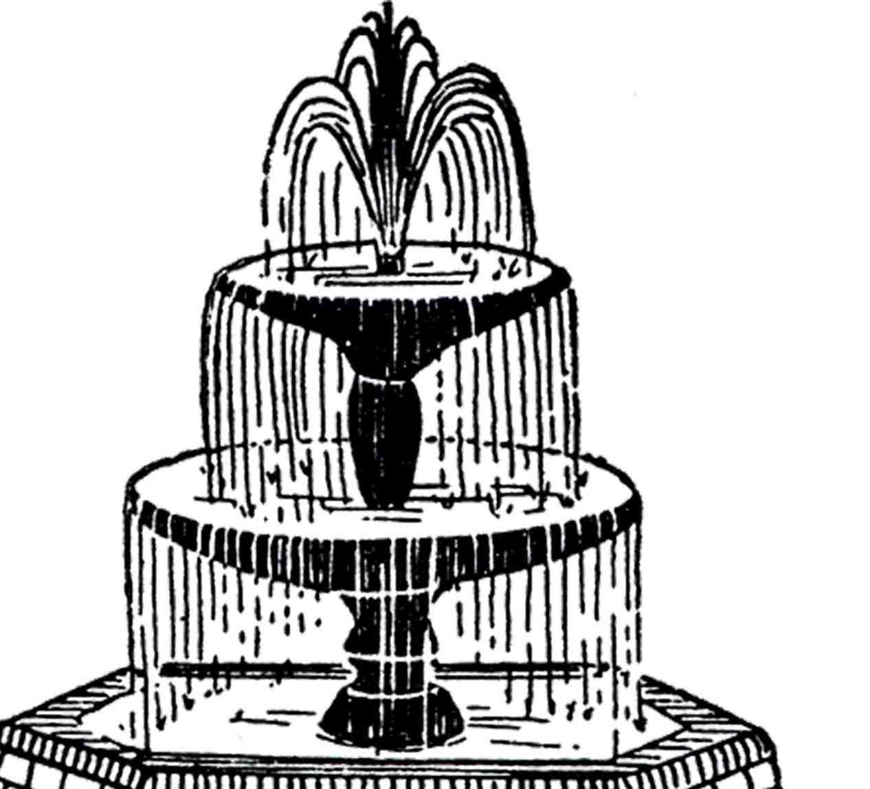 1266x1149 Vintage Wedding Cake Clip Art Fountain The Graphics Fairy More