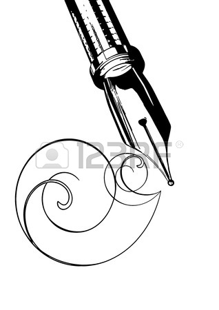 318x450 Illustration Fountain Pen On A White Background Royalty Free