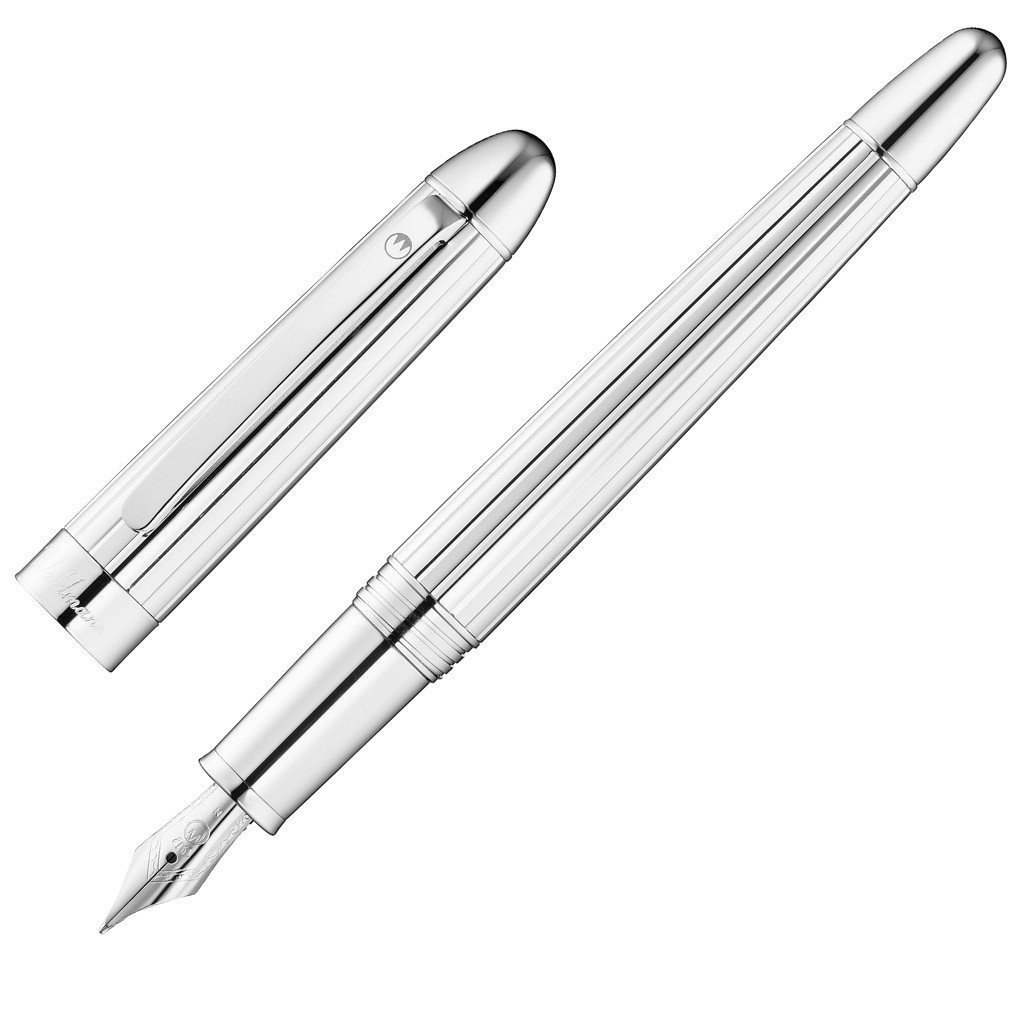 1024x1024 Waldmann 925 Sterling Silver Precieux Fountain Pen Medium Steel
