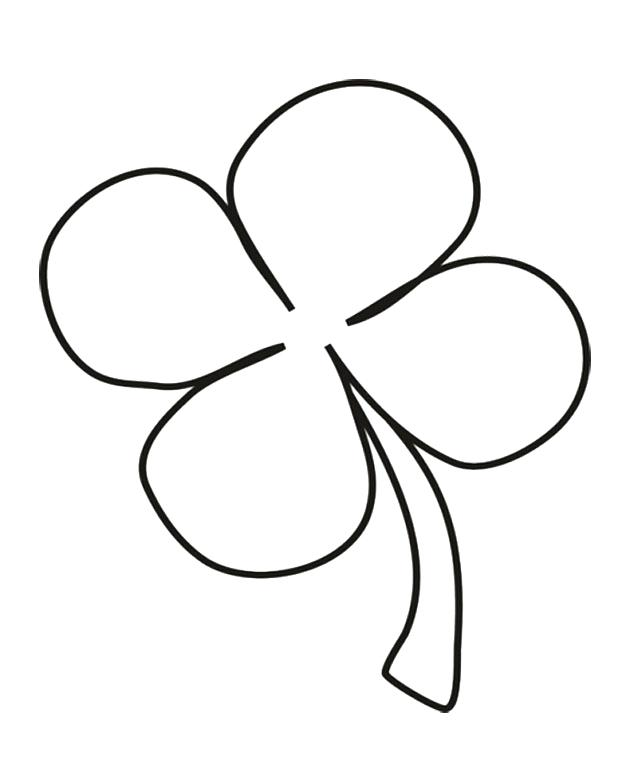 630x767 Four Leaf Clover Coloring Pages Four Leaf Clover Coloring Page