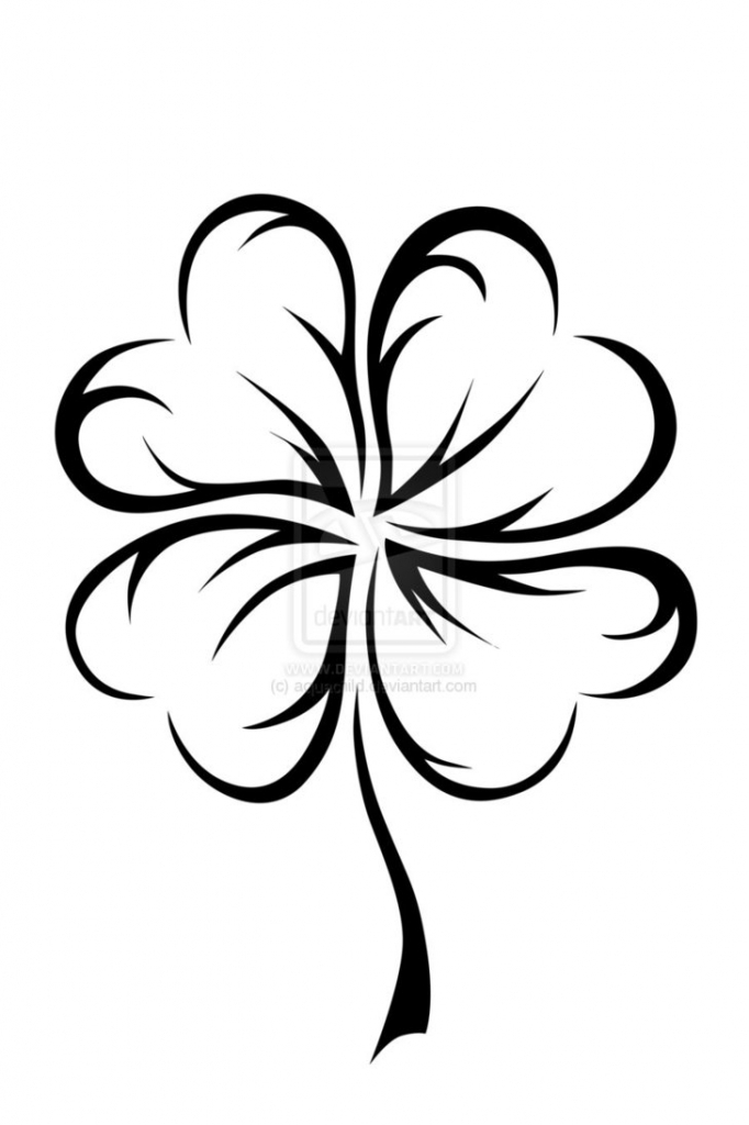 682x1024 Four Leaf Clover Drawing 10 Best Images About Shamrock Tattoo
