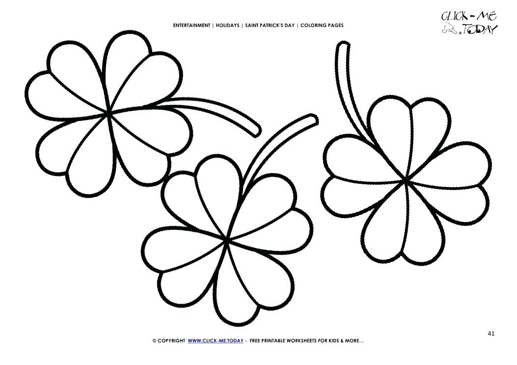 1053x745 Three Leaf Clover Coloring Page St Day Coloring Page Three Four
