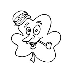 230x230 Top 20 Free Printable Four Leaf Clover Coloring Pages Online