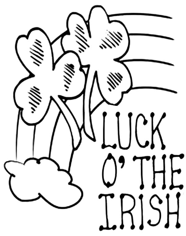 600x763 Four Leaf Clover Luck Of The Irish Coloring Page