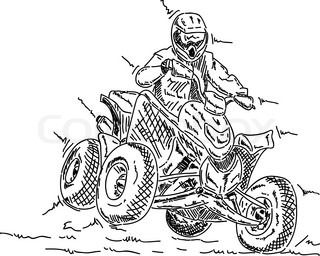 Four Wheeler Drawing