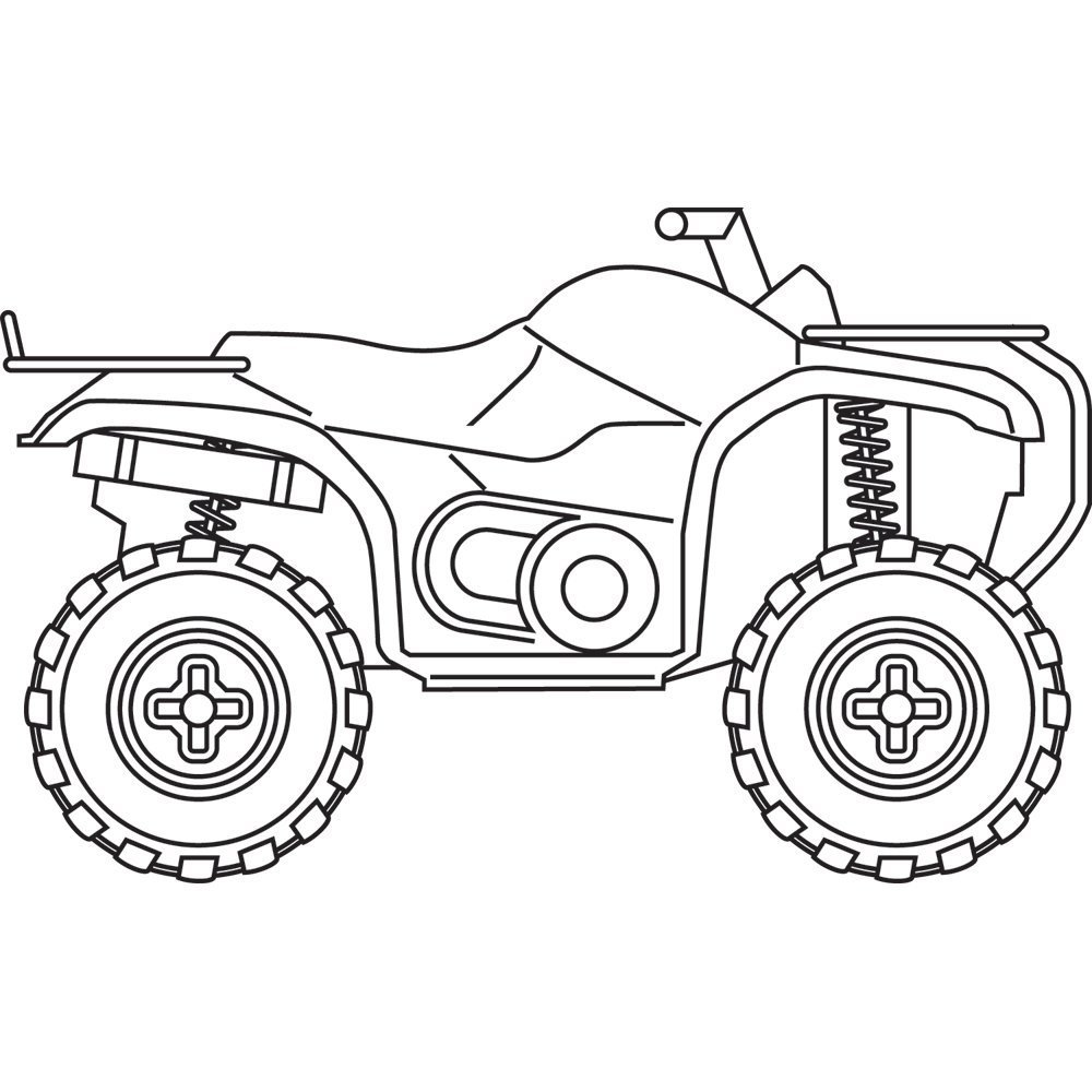 Four Wheeler Drawing at GetDrawings.com | Free for personal use Four ...