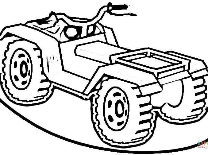 678x505 Four Wheeler Coloring Pages Atv Page Free Printable