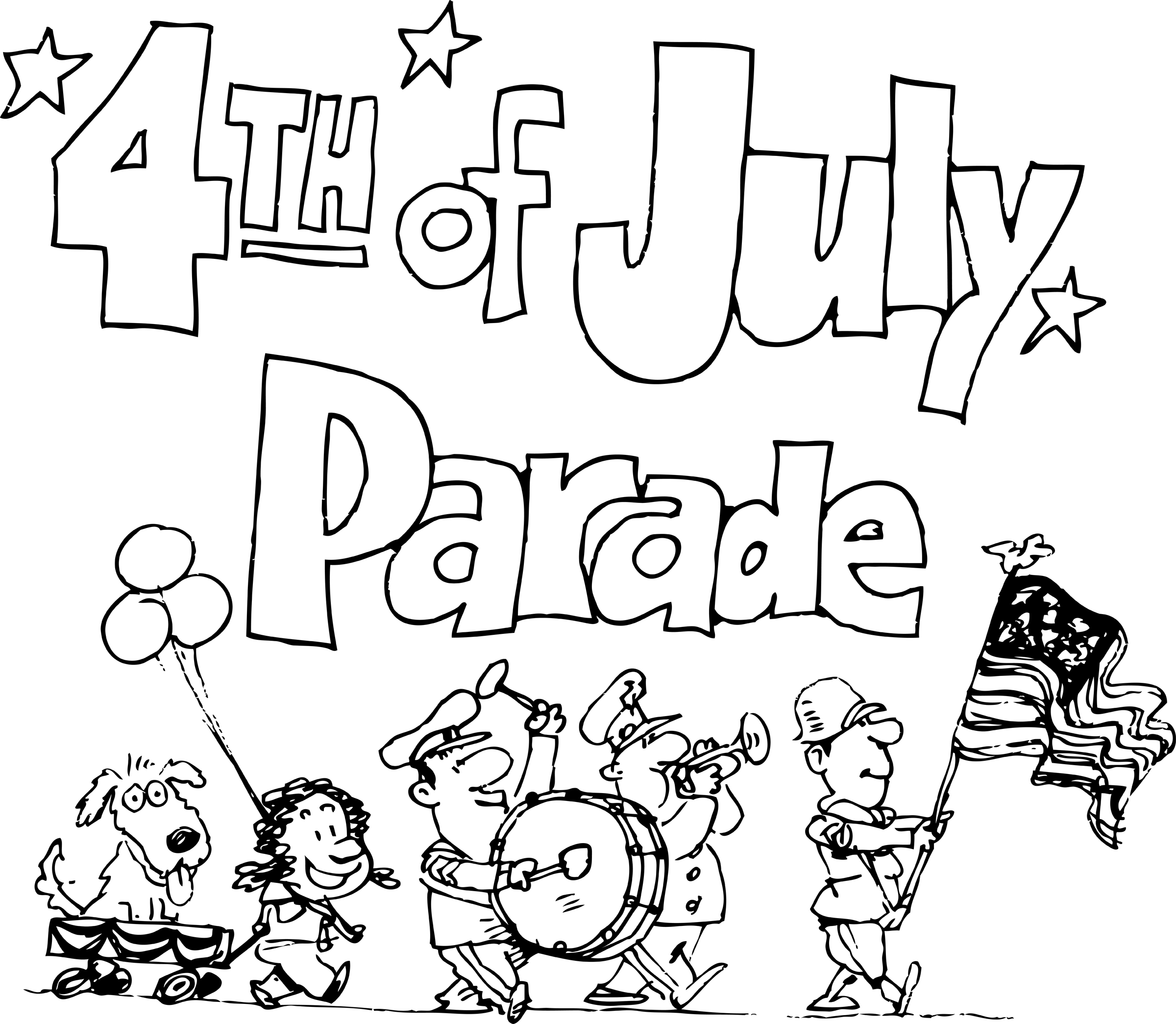 2400x2089 4th Of July Parade