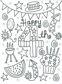 209x280 4th Of July Coloring Page Independence Day Theme Weekly Home