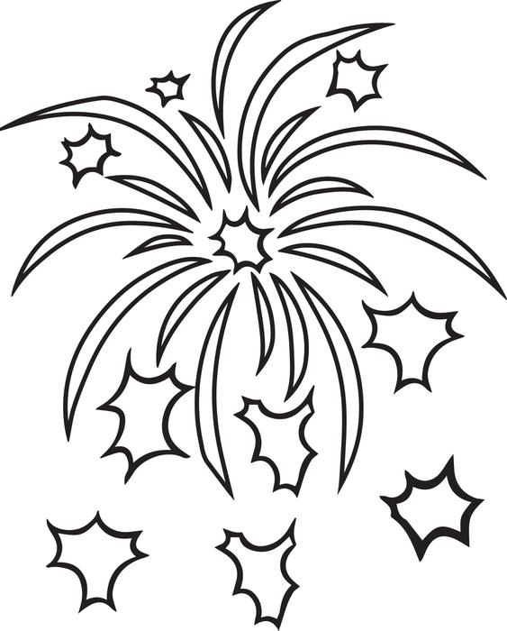 563x700 Fireworks Coloring Pages Printable Tags Firework Coloring Page