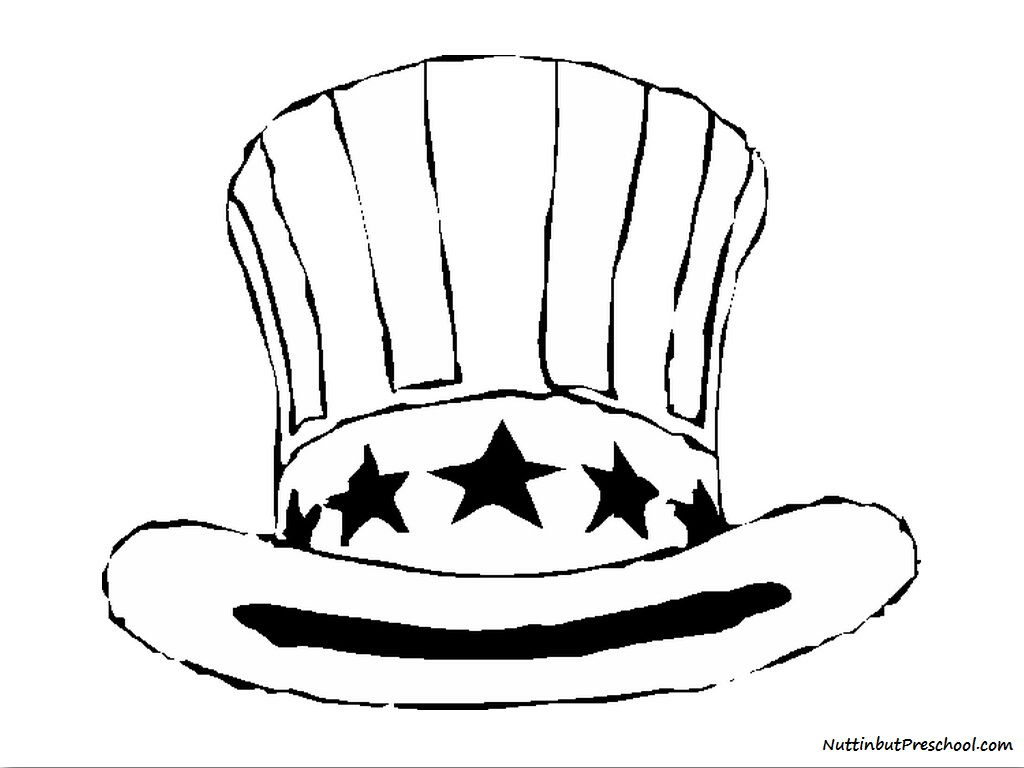 1024x768 Fourth Of July Hat (Coloring Page) Nuttin' But Preschool