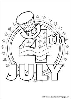 236x330 4th Of July Coloring Page
