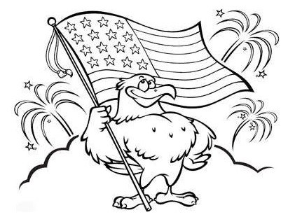 411x310 4th Of July Craft, Clipart, Sketch, Drawing, Printable Card