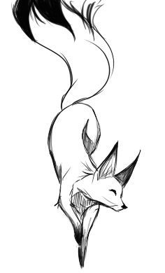 Fox And Wolf Drawing