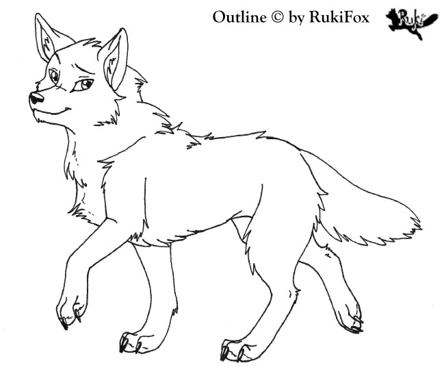649x546 Wolf Outline By Rukifox