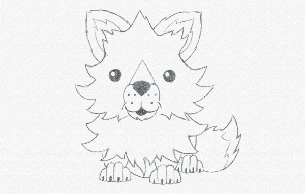 600x382 Drawing For Kids Draw A Cute Baby Fox