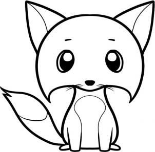 302x297 How To Draw How To Draw A Fox For Kids