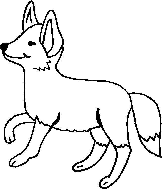 652x760 Coloring Page Animal Coloring Page Fox