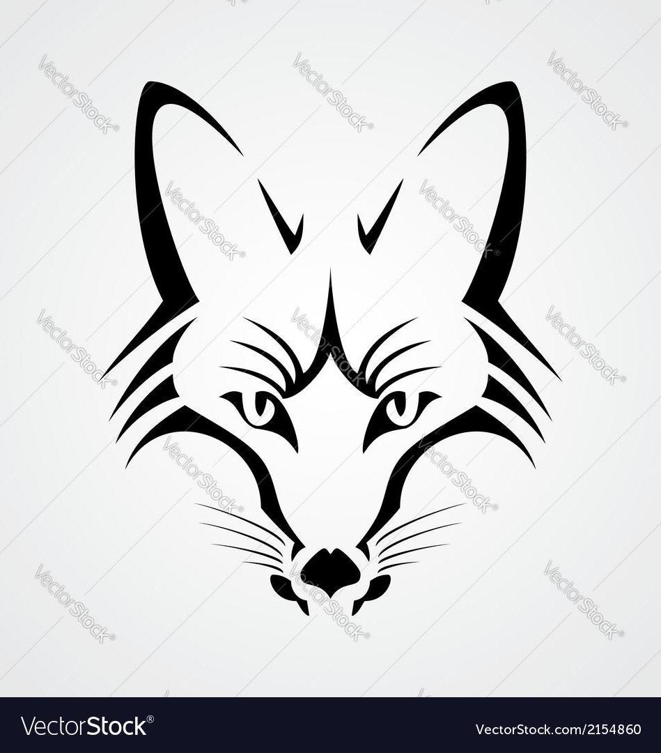 949x1080 Best Hd Hd Fox Head Tribal Vector Drawing Design