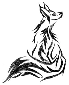 243x300 Fox Black And White Drawing