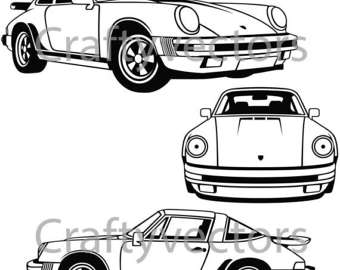 340x270 Ford Mustang Fox Body Vector Svg Cut File