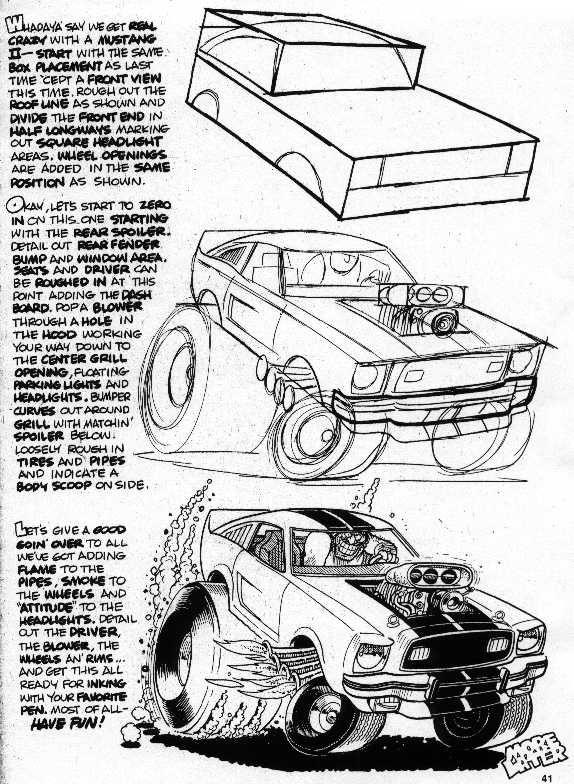 Fox Body Mustang Drawing At Getdrawings Com