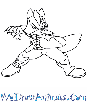 300x350 How To Draw Wolf O'Donnell From Star Fox