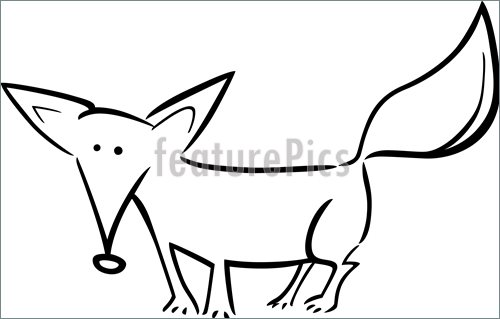 500x319 Wildlife Animals Cartoon Red Fox For Coloring