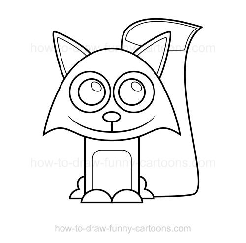 500x494 To Draw A Fox