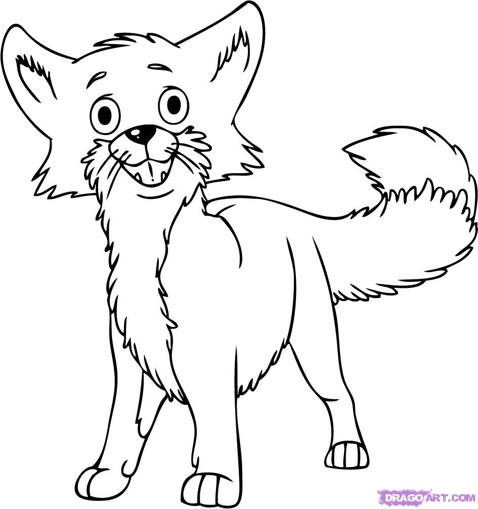 945x1006 Cartoon Fox Drawing How To Draw A Cartoon Fox, Stepstep, Cartoon