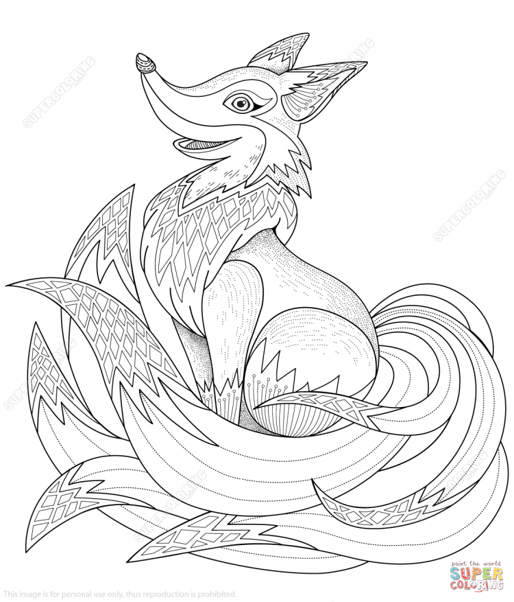 750x877 Coloring Fox Coloring Pages Free Printable Plus Cute Fox