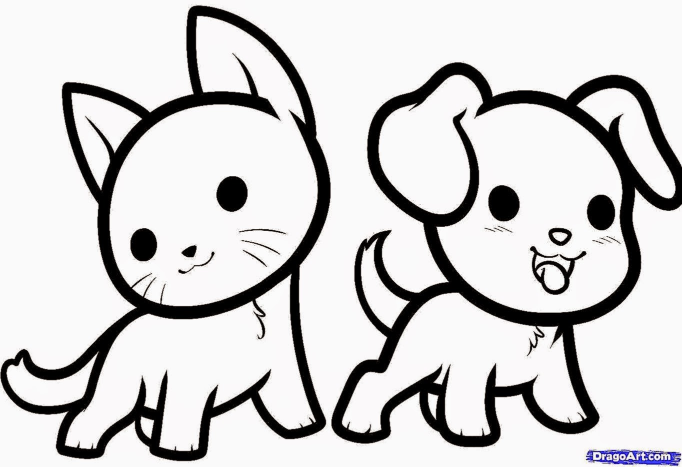 1364x935 Easy To Draw Cute Animal Drawings Cute Drawings
