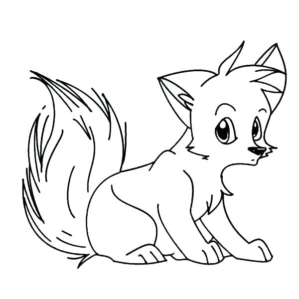 600x600 Baby Fox Coloring Pages Red Fox Coloring Pages Cute Baby Fox